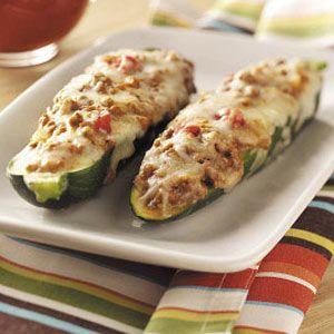 Beef Stuffed Zucchini recipe #zucchini