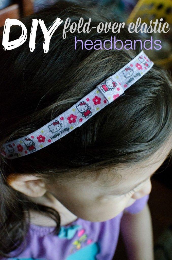 DIY Fold-Over Elastic Headband Tutorial - Nina Says Blog