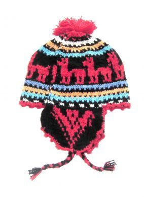 Traditionelle peruanische #Chullo aus Cusco, handgestrickt aus #Alpakawolle