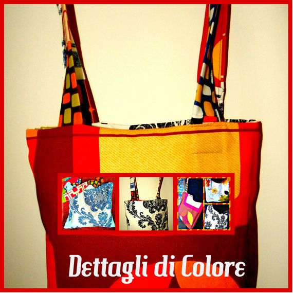 Doubly Borsa in stoffa Triple Faces di DettagliDiColore su Etsy