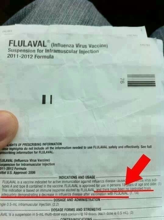 Flu vaccine information! Why would any one take this knowing there is no proof it's effective?!