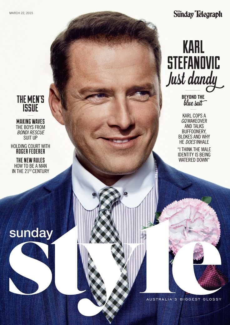 Issue #98. Starring Karl Stefanovic. Download the app: www.appstore.com/SundayStyle