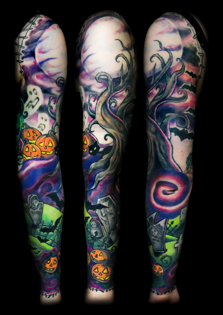 Color Sleeve Tattoos: Pin By Zach Marquez On Tattoos