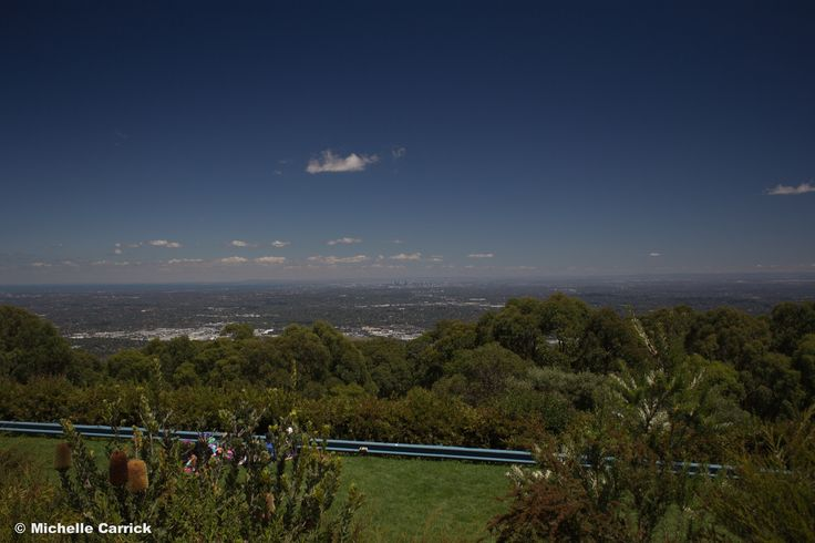 View from Sky High, Mount Dandenong. To The left is the bay, in the centre you can just see the outline of the Melbourne Skyline (the photo doesn't do it much justice. The skyline looks huge from the lookout!) and around the city you can see the suburbs. I definitely recommend visiting here! The views are amazing, they sometimes hold events, and the cafe is delicious. Cost $5 for parking.