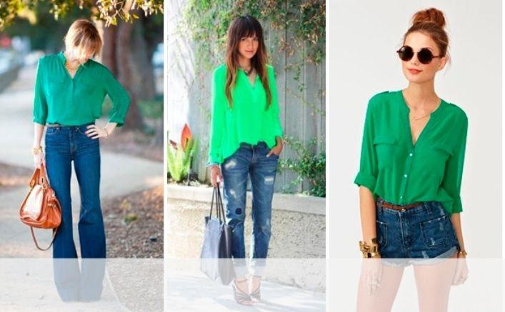 Сочетание зеленого цвета в одежде: с чем носить, как сочетать