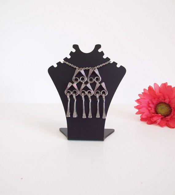 Hanger met vintage Scandinavische / / ketting nagels van hoefijzer / tegenhanger Hoefijzer met ketting