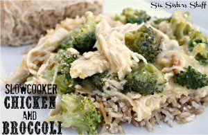 Cheesy Chicken and Broccoli Over Rice - This slow cooker chicken breast recipe includes two types of cream soup, sour cream, and more.