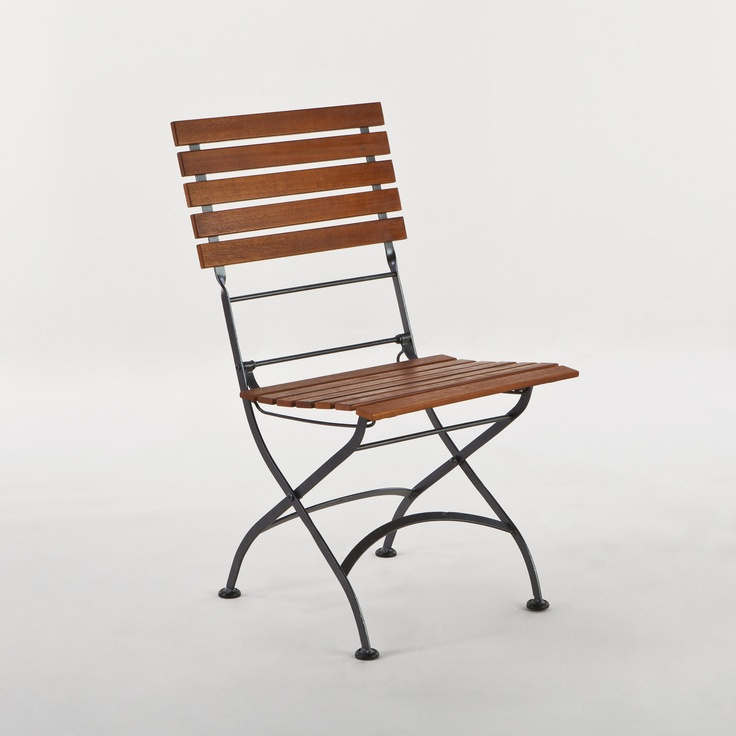 Wood & Metal Folding Chair Around the House