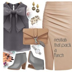 Be fierce with this neutral outfit paired with stunning vintage jewelry.
