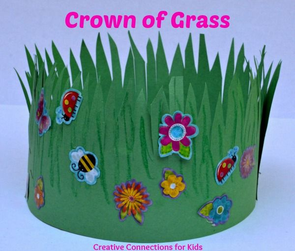 A Crown of Grass.  This is Spring.  Would be nice to make this to go along with the story in the Tall Tall Grass