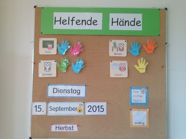 Helfende Hände Klassenraum Organisation