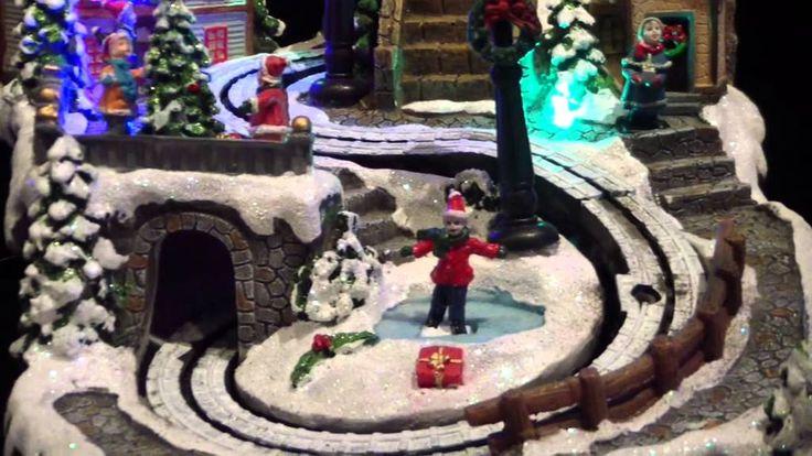 Village de Noël piste de luge LED Multicolores