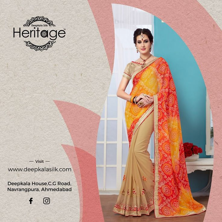 Turn heads with our special festive wear collection only at Deepkala Silk Heritage!  https://www.deepkalasilk.com/multicolor-georgette-saree.html #Cotton #Beauty #boldness #deepkala #silk #heritage #deepkalasilkheritage #TraditionalWear #BeSpoke #SalwarSuits #Lehenga #Saree #multicolored