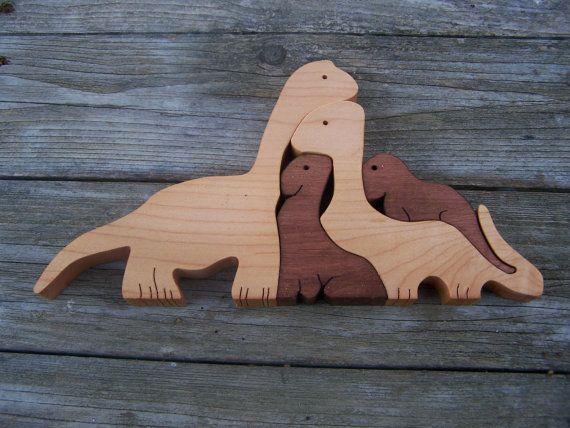 Puzzle dinosaure bois scie chantourner coupe du par - Scie a chantourner ...