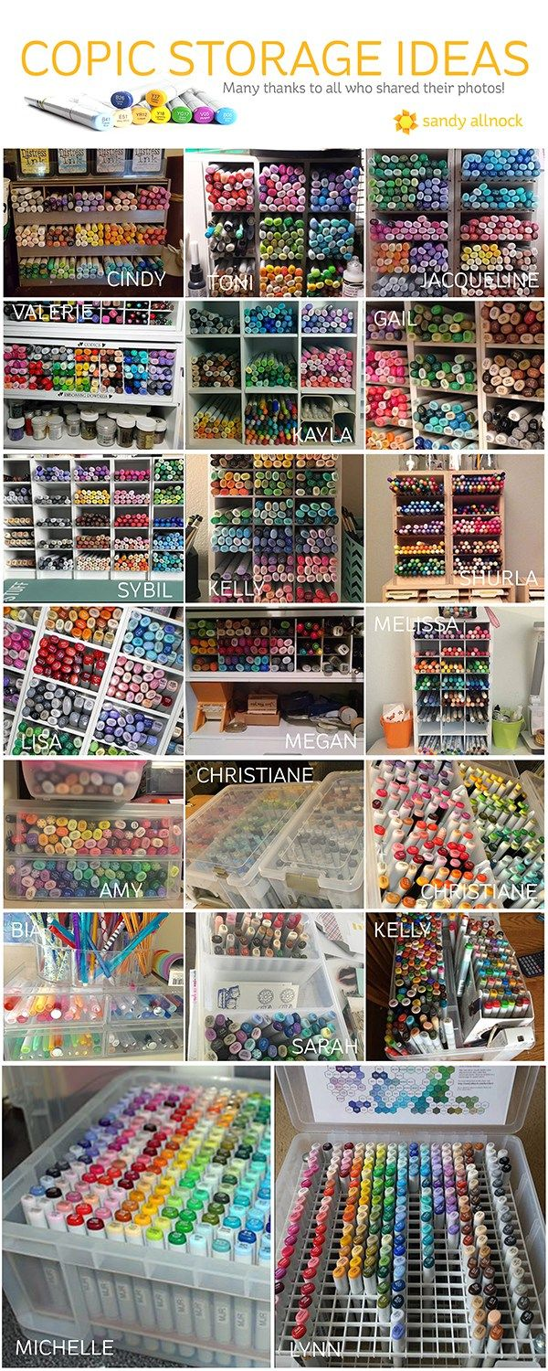 *copic Jumpstart Class Update Is At The End Of This Post! :) I Marker Storageart  Storagestorage Ideascopic