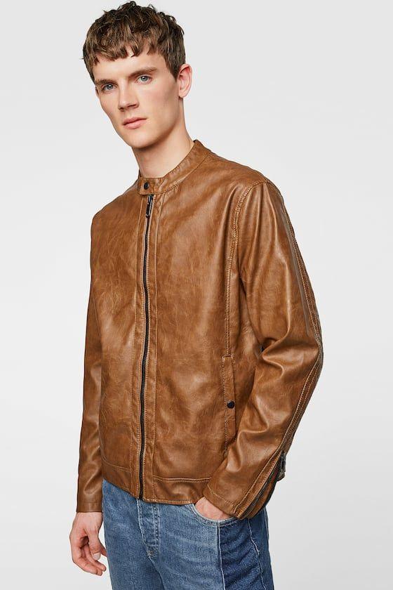 Faux Leather Jacket Zara Men Jacket Faux Leather Jackets