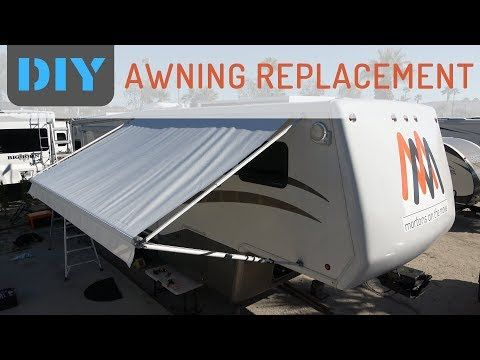 3 How Easy Is It To Replace Rv Awning Fabric Replacing A E Awning Slide Topper With Tough Top Youtube Rv Awning Fabric Camper Awnings Diy Awning