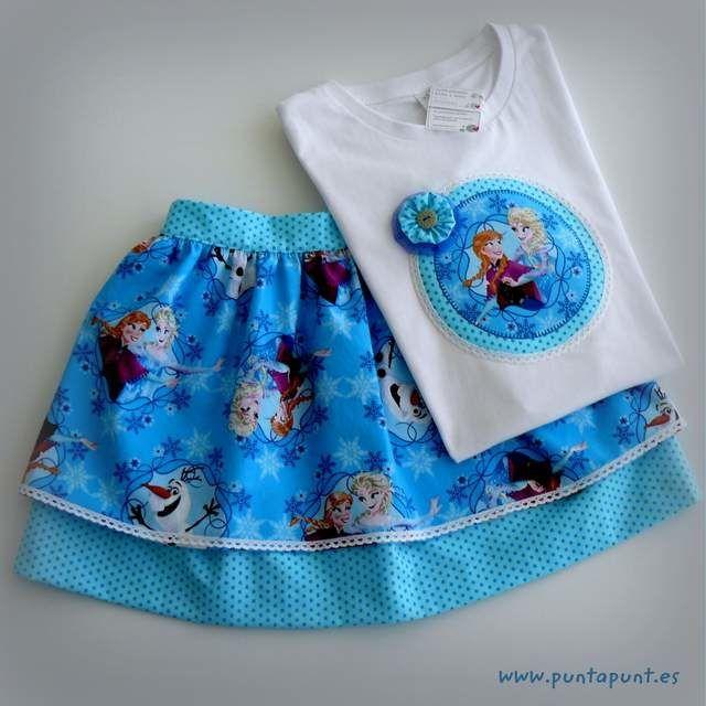 26456d95e Set de camiseta y falda para niña modelo