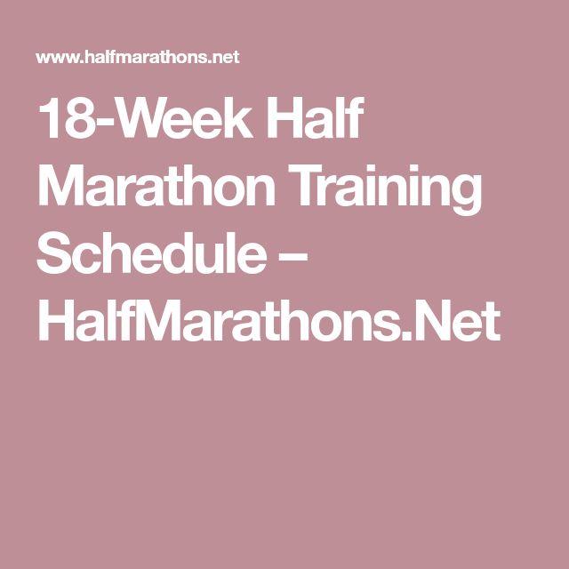 18-Week Half Marathon Training Schedule – HalfMarathons.Net