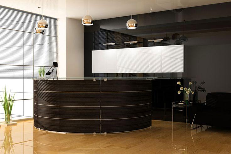 Recepcja na wymiar dla wnętrza hotelu - Mobiliani Design.