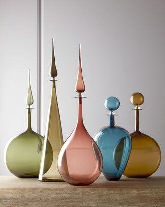 Joe Cariati Glass Hand-Blown Glass Bottles - Neiman Marcus
