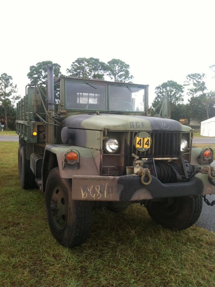 Half Truck Half Tractor Trailer Pick Up : Deuce and a half w pto winch military vehicles for