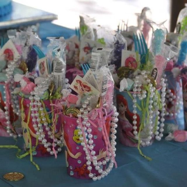 Ariel party favors for girls doing this for Anna's party! :)