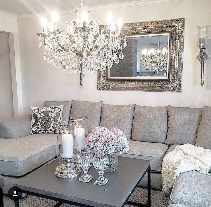 Livingroom silver decor homedecor loungeinspo for Como pintar una casa moderna