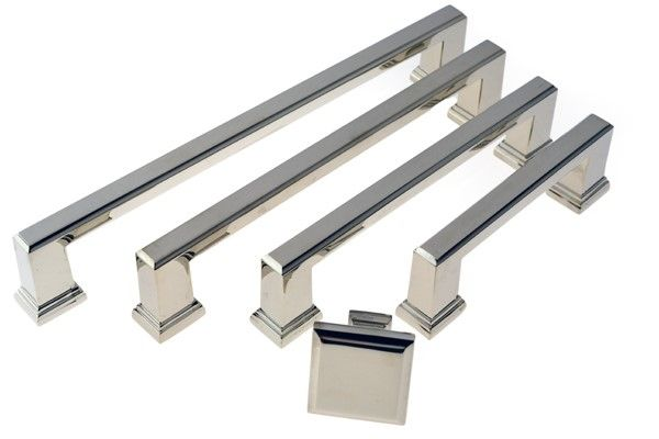 Raised Square Cabinet Handle comes in various sizes 96mm, 128mm, 160mm OR 192mm centre to centre. This Cabinet Handle comes in Polished Nickel