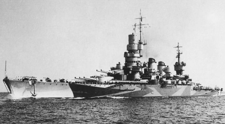 """Regia Marina Italian battleship """"Caio Duilio"""" which was just a start to the modern ships which showed they are able to ship stuff across the ocean."""