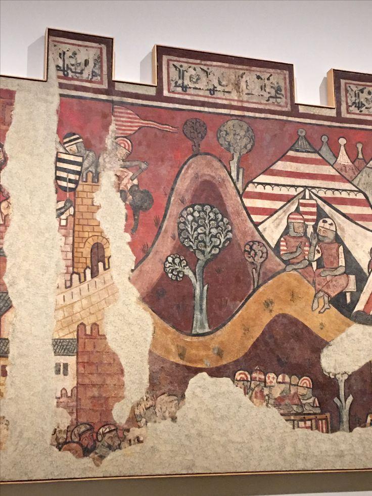 En las pinturas tambien hay muchas plantas que completan las obras.