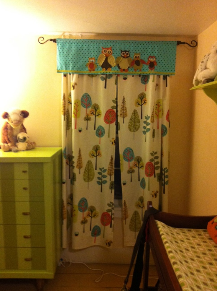 Valance And Curtains I Made For Silas Woodland Owl Baby