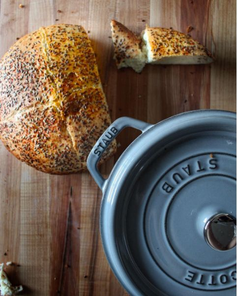 Country Loaf bread made in 5.5 qt Staub Cocotte