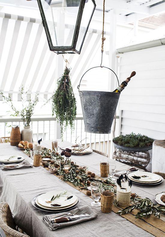 Mediterranean inspired tablescape by Kara Rosenlund