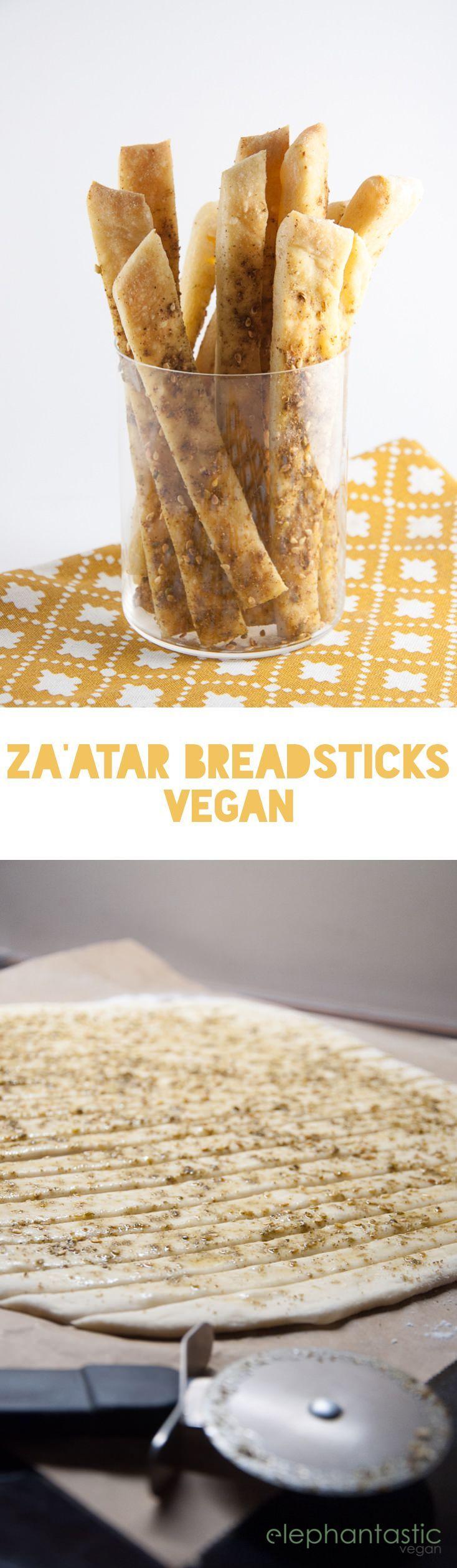Vegan Za'atar Breadsticks | ElephantasticVega...