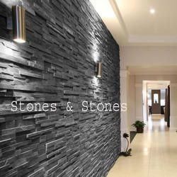 Black Slate Wall Cladding Tiles. Get Best Quote