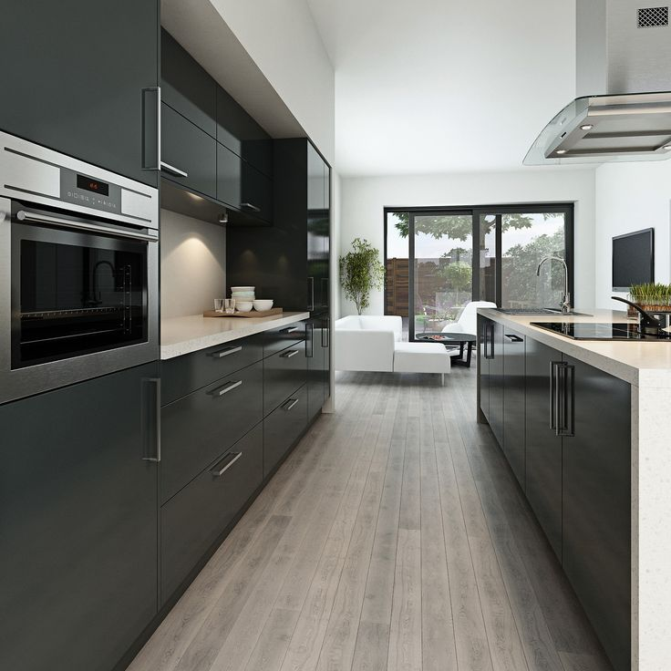 Maida gloss dark grey can create a modern look for any kitchen http://www.moores.co.uk/Definitive-Kitchens/Range-Selection/Maida/127/Gloss%20Dark%20Grey/2/8