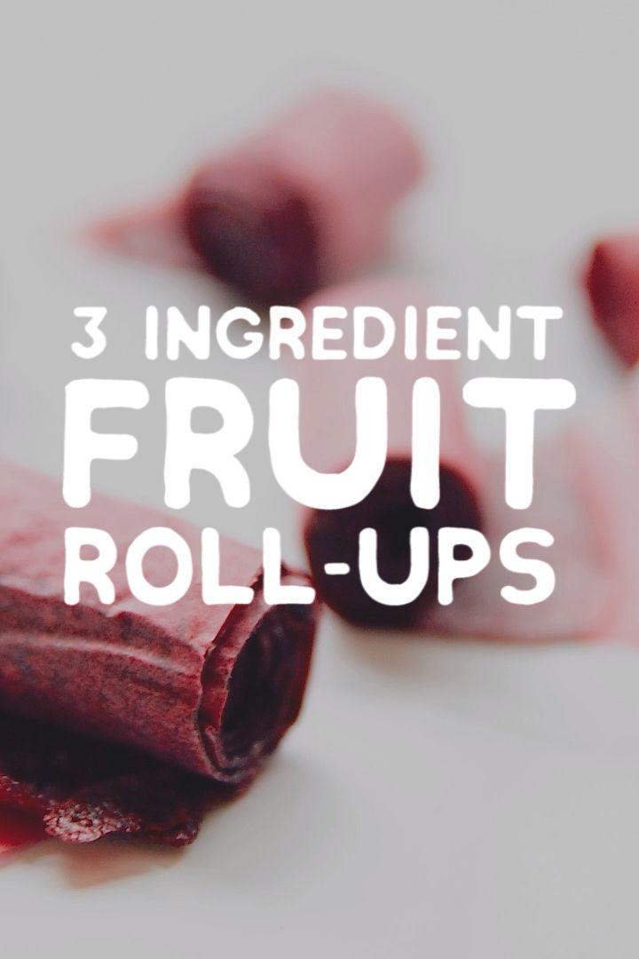 3 Ingredient Homemade Fruit Roll-Ups Recipe (No Fancy Equipment!)
