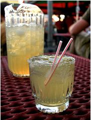 recipe for beergarita:  3 beers (I like Corona)  1 12 oz can of frozen limeade  12 oz of tequila (use empty limeade can for measuring)  squeeze of lime (can also use for garnish)  lots of ice  margarita salt (optional for rim)