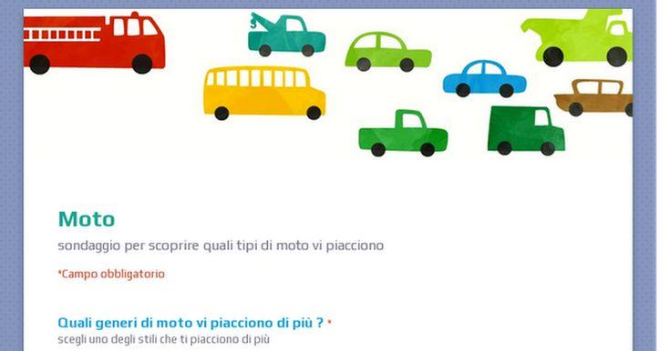 sondaggio realizzato con google drive per scoprire le vostre preferenze in materia di moto