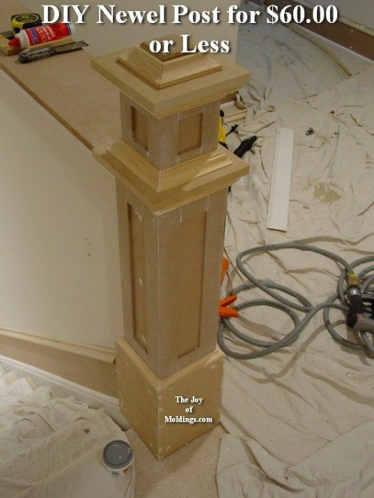 Best How To Build Newel Post 100 Part 2 In 2020 Diy Stairs 400 x 300