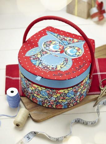 Owl sewing box