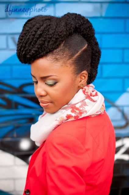 Tutorial: Twisted Frohawk w/Pompadour | Curly Nikki | Natural Hair Styles and Natural Hair Care