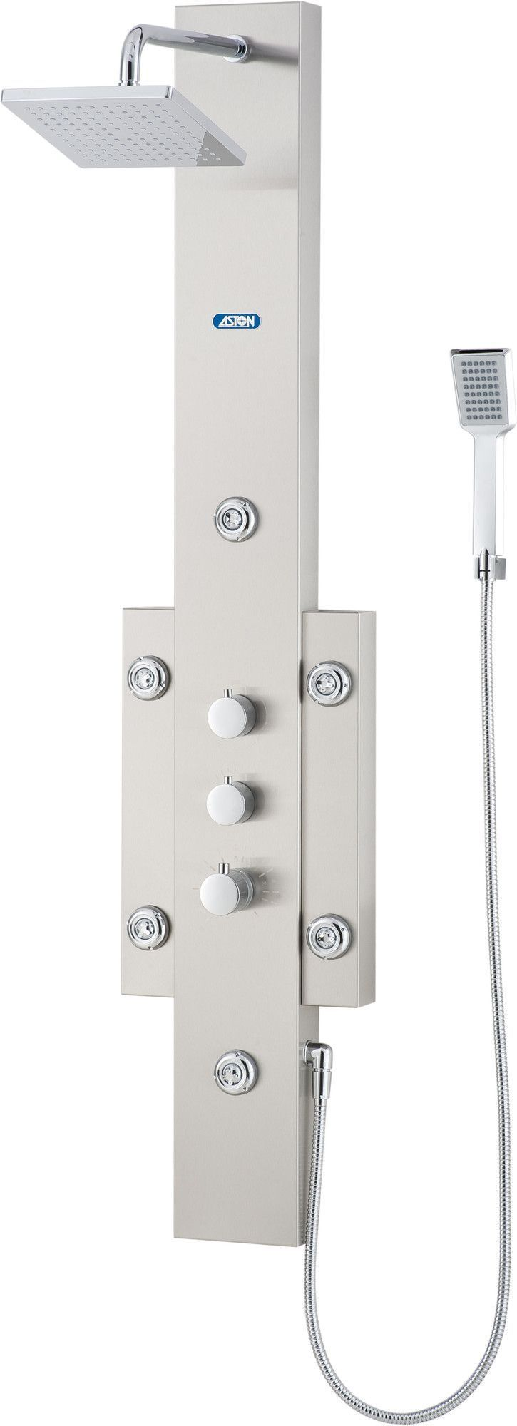 Dual Function Shower Panel With Six Body Jets