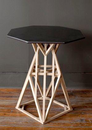 geometric side table. Interior Design Ideas. Home Design Ideas