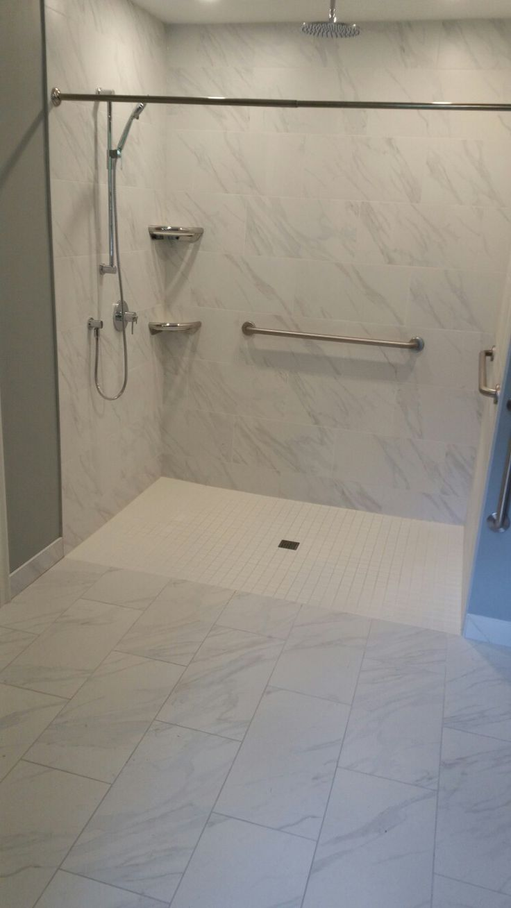 """72"""" wide accessible shower"""