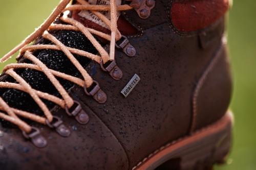 Hochwertiger Vollnarben-Leder-Herrenschuh in braun mit wasserabweisender GORE-TEX® Technologie, Midford Up GTX.