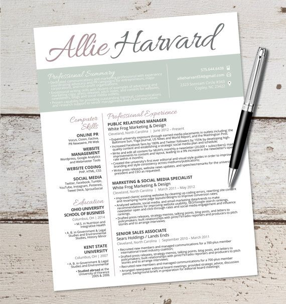 57 best Resume Template images on Pinterest Resume templates - resume styles