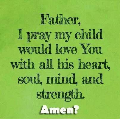 God loving child