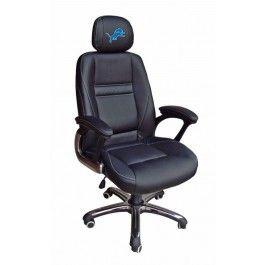 Detroit Lions Head Coach Leather Office/Desk Chair